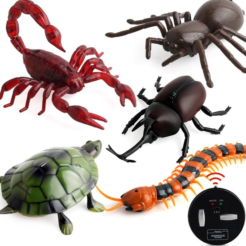 Nuevos juguetes de broma robóticos para insectos, truco electrónico para mascotas, simulación RC, escarabajo Escorpión, Control remoto, Animal inteligente, modelo de regalo para niños
