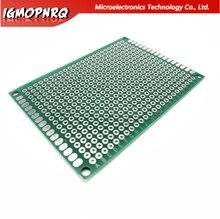 Placa de circuito, 5x7cm 5*7 dupla face protótipo pcb diy universal impresso