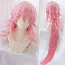 Honkai Impact 3 3rd Cosplay perruque Yae Sakura rose 120cm cheveux longs raides du visage