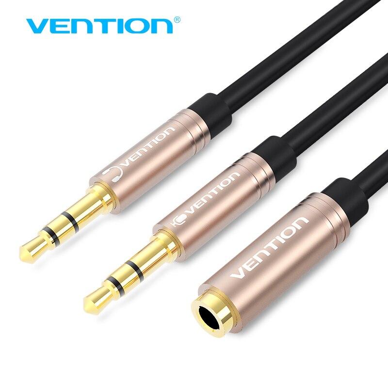 Vention 3,5 мм Aux аудио кабель-удлинитель Jack 3,5 мама к двойному мужскому наушнику разветвитель наушников Aux для компьютера ноутбука iPhone