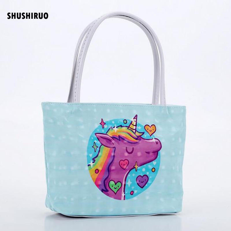 SHUSHIRUO, bonito diseño de unicornio, bolso de maquillaje para mujer, neceser de Impermeable bolsa de cosméticos PU para mujer, organizador de viaje, bolsa de almacenamiento