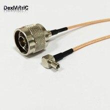 N Switch câble de Pigtail TS9 mâle   N type mâle à TS9 mâle à Angle droit, adaptateur de câble RG316 15cm 6