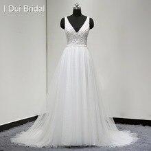 Boho vestidos de casamento vestido de noiva real foto v pescoço a linha sexy bohemia praia els0001 navio da gota vestido de noiva