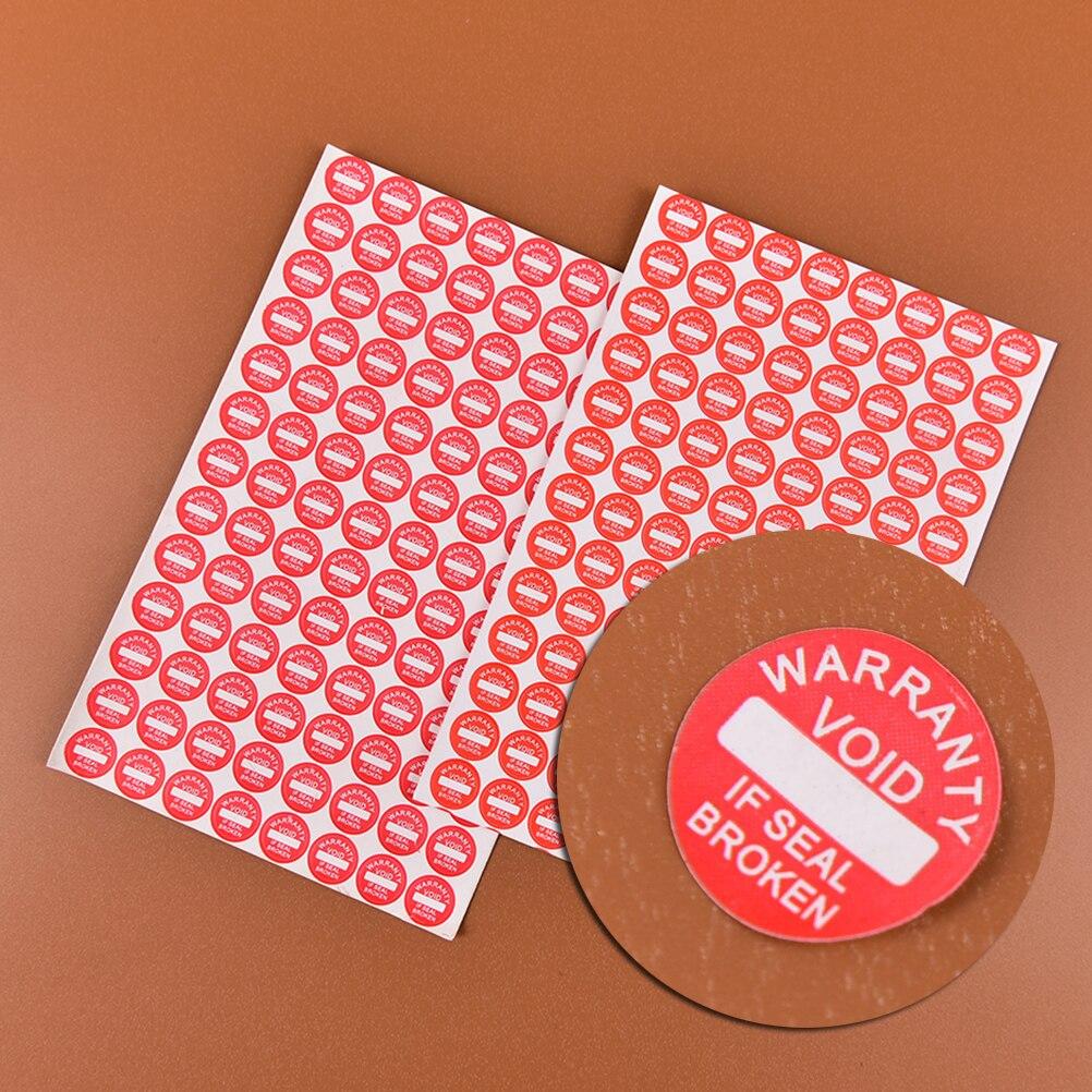 2 hojas (208 uds) adhesivo fuerte garantía etiqueta frágil sello etiqueta Universal garantizada si etiqueta de garantía vacía dañada