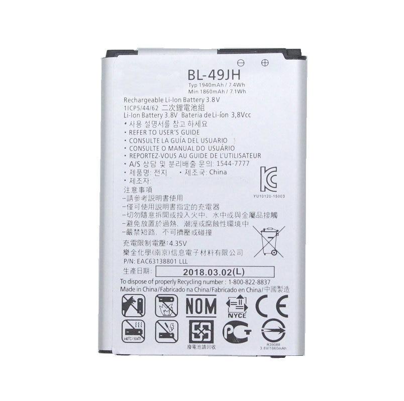 1x1940 mAh BL-49JH запасная батарея для LG K3 LS450 K4 K120 Spree K121 K130 k120e K130e BL49JH BL 49JH батареи
