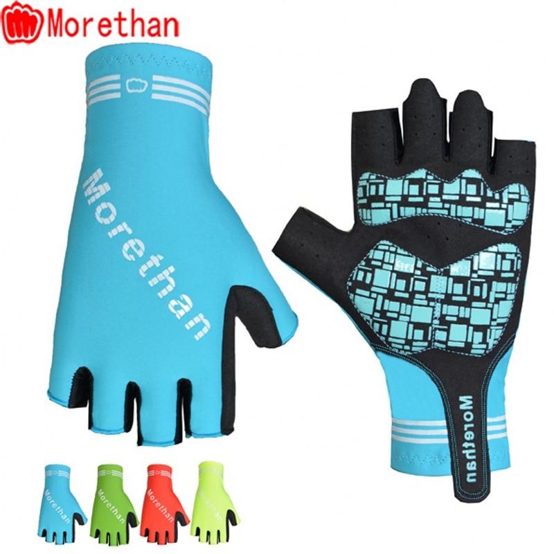 Morethan pro Road Bike Cycling Glove Men Sports Half Finger Anti Slip Gel Pad Lengthen Microfiber Elastic MTB aero Bicycle glove