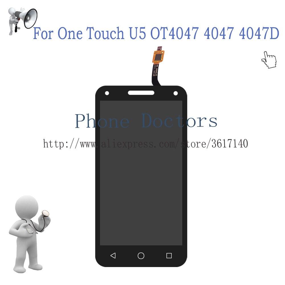 Pantalla LCD completa de 5,0 pulgadas + MONTAJE DE digitalizador de pantalla táctil para Alcatel One Touch U5 3G 4047 4047D digitalizador LCD 100% probado