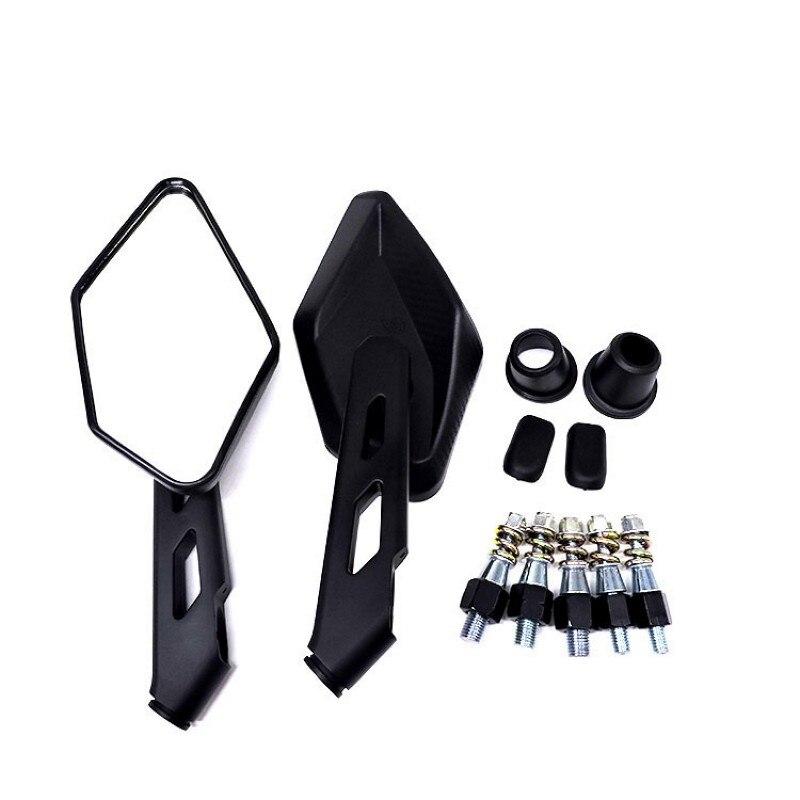 1 par negro moto rcycle espejo retrovisor Universal 8mm 10mm espejo retrovisor...