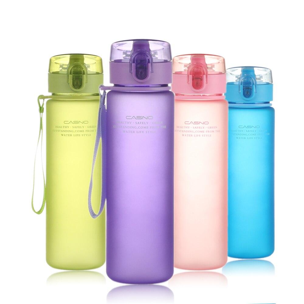 Marca PURANKA botella de regalo 400ML 560ML Tour al aire libre deporte escuela sello con cierre hermético botella de agua de plástico Drinkware KXN-1114 KXN-1115