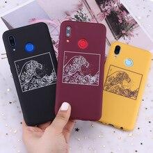 Для Huawei Honor Mate 10 20 Nova P20 P30 P Smart The Great Wave off Kanagawa Candy силиконовый чехол для телефона Капа Fundas Coque