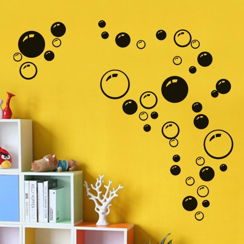 POOMOO Wall Decals,Bubbles Wall Stickers Vinyl Mural Decal Car Bathroom Kid Art Decor Shower Room 20X45CM