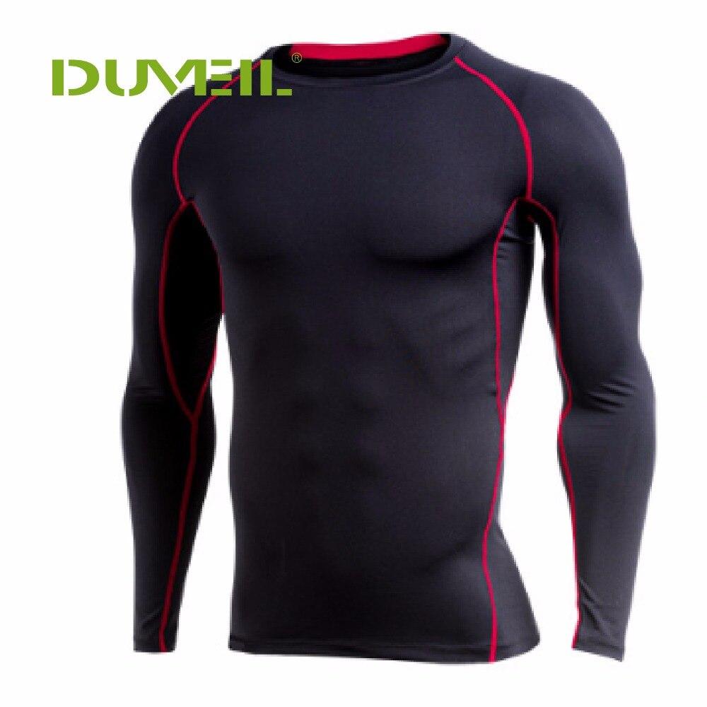 DUVEIL Fitness traje de los hombres de manga larga corriendo baloncesto rápido seco camiseta medias deportes Yoga elástico corriendo Pro entrenamiento uniforme