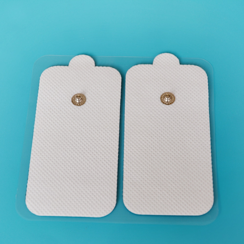 10pcs/lot(5pair)FDA 510K 5*10CM Electrode Pads for Tens EMS Unit with adhesive reusable electrode therapy Tens Snap pad