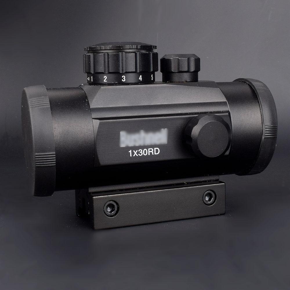 Táctico 1X30 holográfica vista de punto Airsoft rojo Punto Verde óptica mira caza alcance 11mm 20mm montaje carril colimador vista