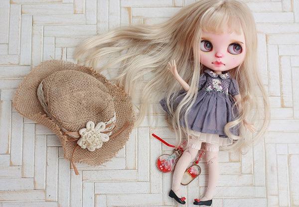 BJD muñeca pelucas de leche de oro de onda larga pelucas de pelo para 1/3 de 1/4 de 1/6 de la muñeca de BJD de imitación lana super suave muñeca