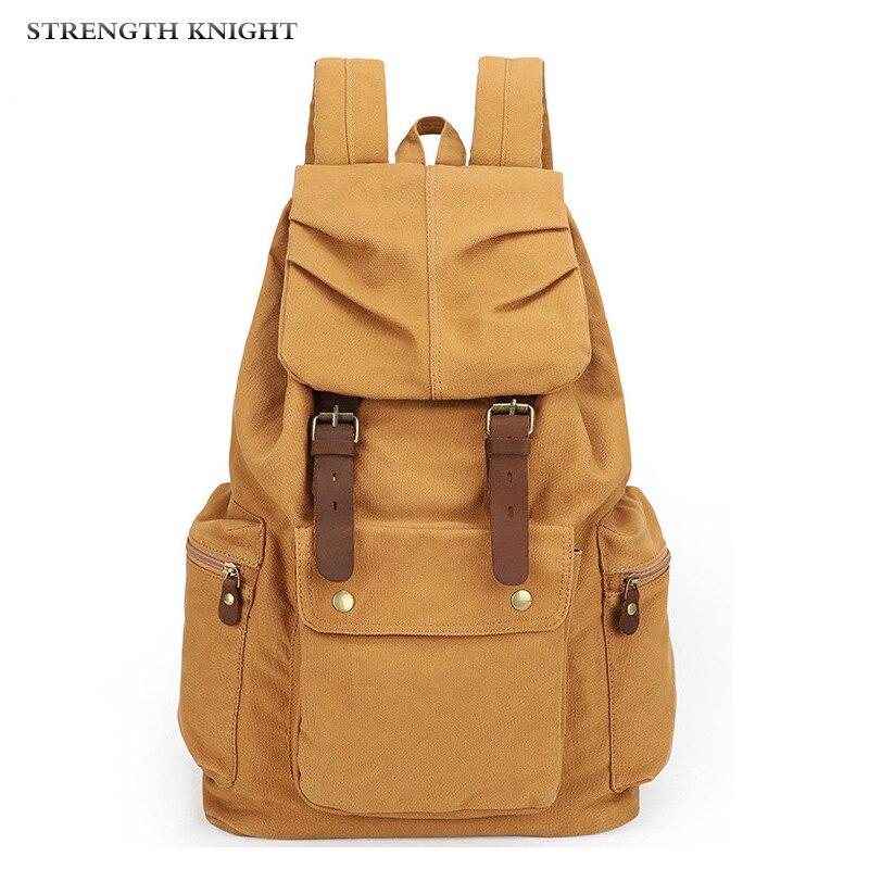 حقيبة كتف جلدية عتيقة للرجال والنساء ، حقيبة ظهر مدرسية عصرية للجنسين ، حقيبة سفر قماشية غير رسمية ، مجموعة جديدة