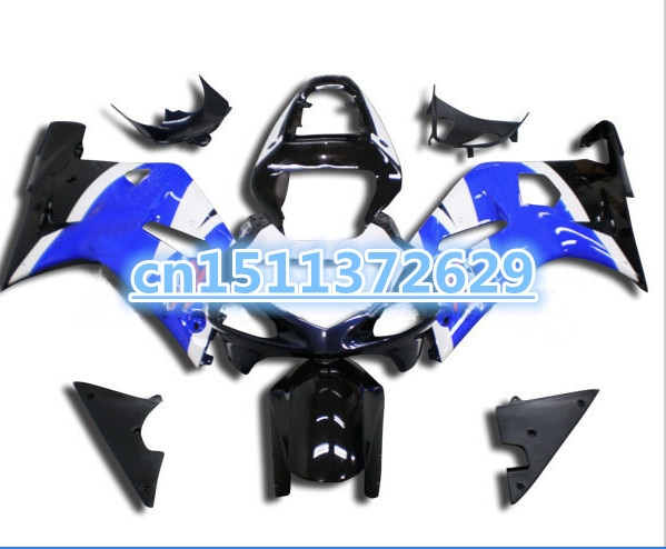 Nn-ABS azul blanco negro kit de carenado para un GSXR600 750 01 02 03 GSX-R600 750 GSXR600 GSXR750 K1 2001, 2002 de 2003 para Suzuki
