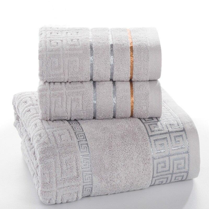 Plaid 100% Baumwolle Gesicht Hand Bad Handtuch Set für Erwachsene Bad 650g 3 teile/satz Handtuch Sets Freeshipping