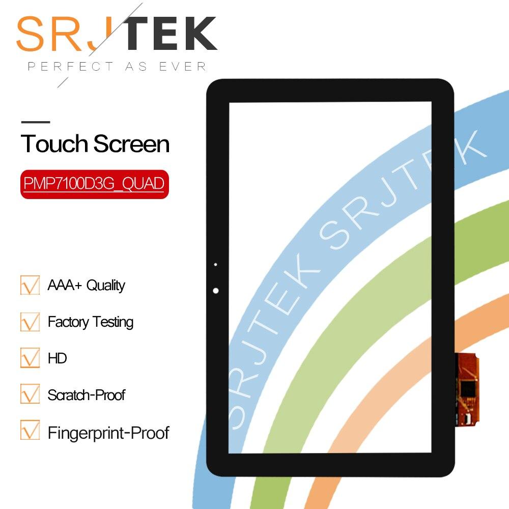 4 SRJTEK Novo 10.1 da Tela de Toque Para O PRESTIGIO MultiPad Final 10.1 3G PMP7100D3G_QUAD Painel de Digitador Tablet Sensor de Vidro