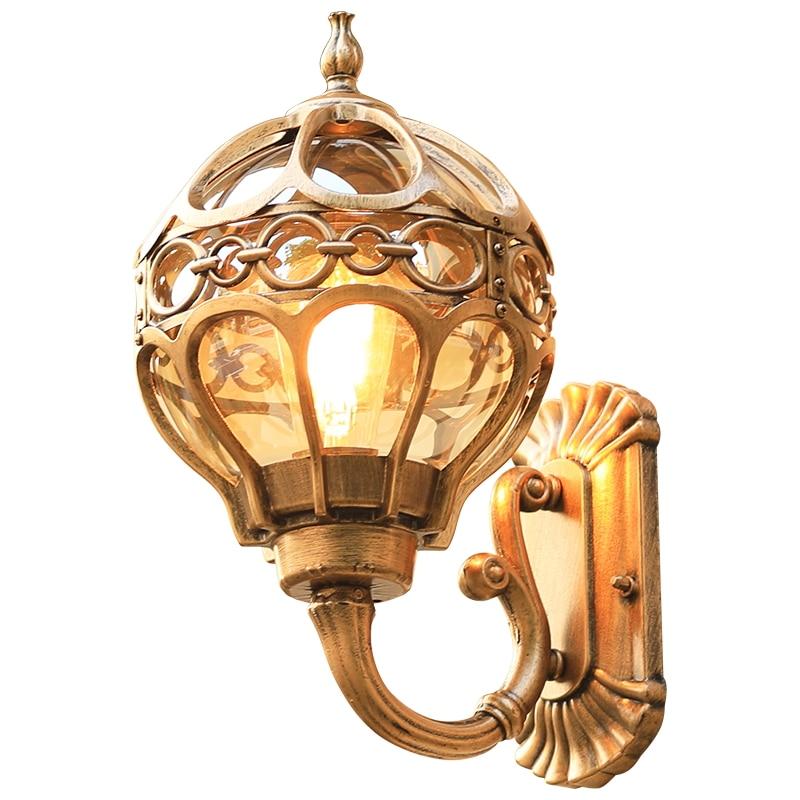 European outdoor lamp waterproof wall lamp American retro outdoor courtyard lamp balcony hallway wall lamp