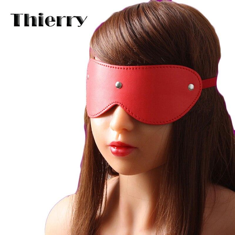Thierry fetiche flirteo antifaz sexy para parejas juego máscara ojos vendados juguetes sexuales aumentar la tensión sexual y aumentar la excitación