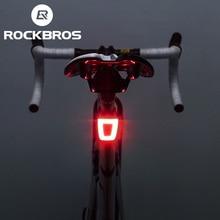 ROCKBROS الدراجات الدراجة الخفيفة مقاوم للماء خوذة الضوء الخلفي فانوس دراجة LED USB قابلة للشحن السلامة ليلة ركوب الدراجة الخلفية الخفيفة