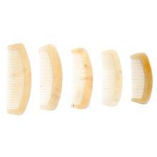 Naturel ambre Ox corne peigne de cheveux pas statique soins de santé brosse à cheveux peigne de coiffure pour cheveux 5 tailles disponibles nouveau