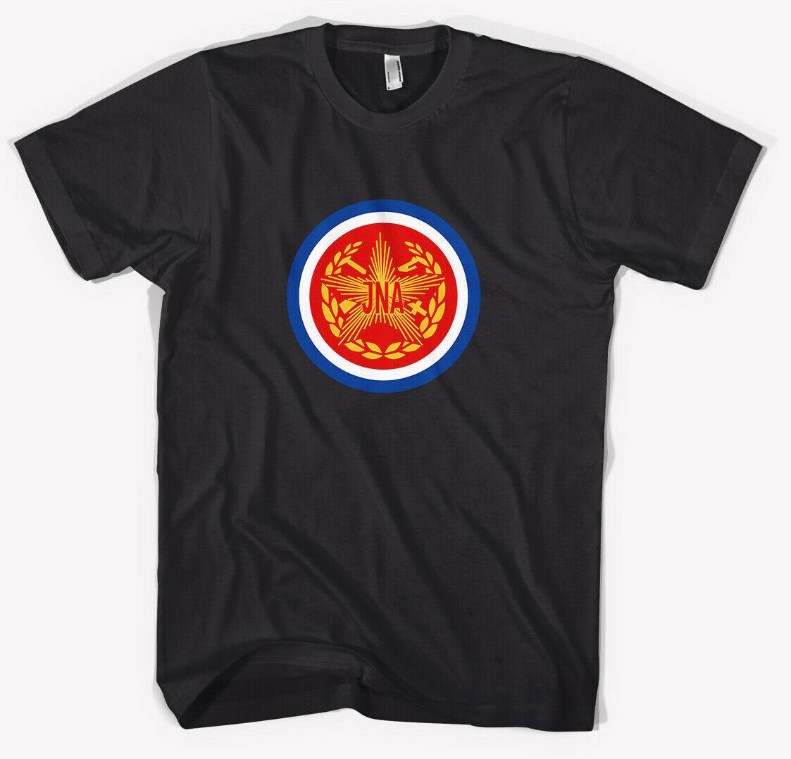 2019 moda Yugoslavia Ejército Popular jna-camiseta negro todas las tallas Unisex Tee
