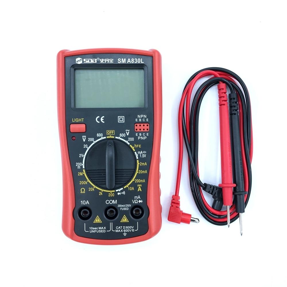 Digital Multimeter A830L AC/DC Ammeter Voltmeter Meter Diagnostic-tool Tester Electronic Measurement Electric Instrument China