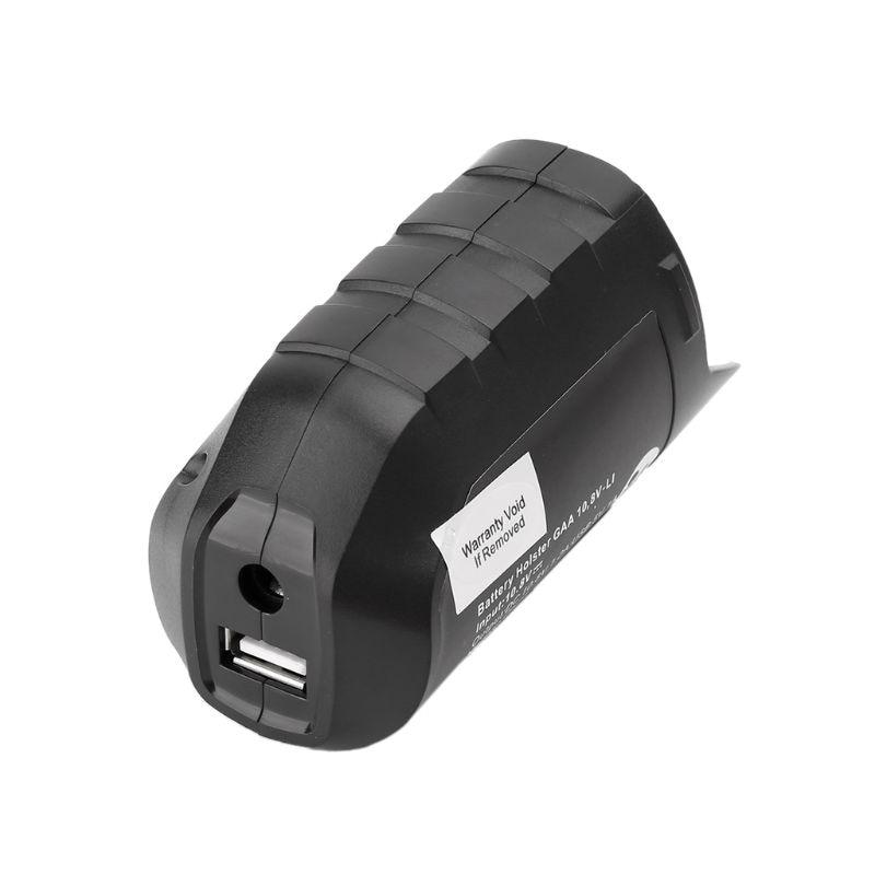Adaptador USB funda de repuesto para batería profesional BOSCH Li-ion 10,8 V/12V BHB120 J6PC Dropship