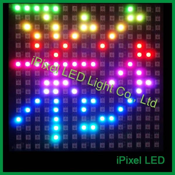 DC5V direccionable apa102 matriz 16x16 píxeles panel con PCB negro flexible