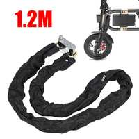 Металлический замок на цепь для мотоцикла, мотоцикла, 1,2 м, Противоугонная защита