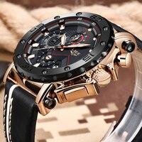 LIGE New Men Watches Top Brand Luxury Male Automatic Date Waterproof Sport Watch Men Leather Military Quartz Wrist Watch Relojes