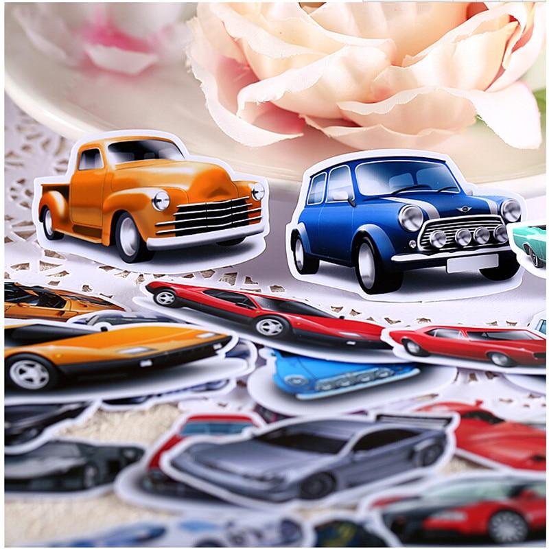 30 pçs criativo kawaii auto-feito retro adesivos de carro/adesivos bonitos/adesivo decorativo/diy artesanato álbuns de fotos