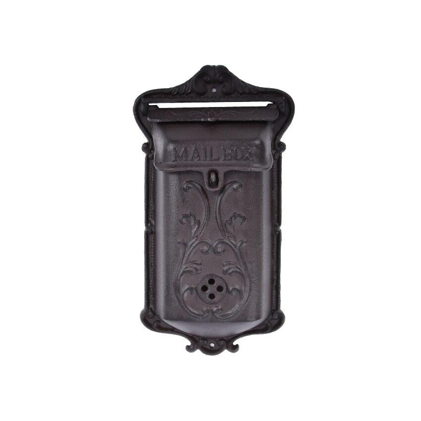 صندوق بريد من الحديد الزهر ، نمط قديم ، مقاوم للماء ، صحيفة ، رسائل ، صندوق بريد ، عتيق ، رعوي ، منزل ، مثبت على الحائط