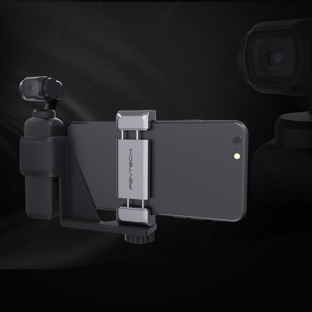 PGYTECH Phone Holder Mount Bracket Set Fixed Stand Bracket for DJI Osmo Pocket Gimbal Accessories & Mic Adapter Port