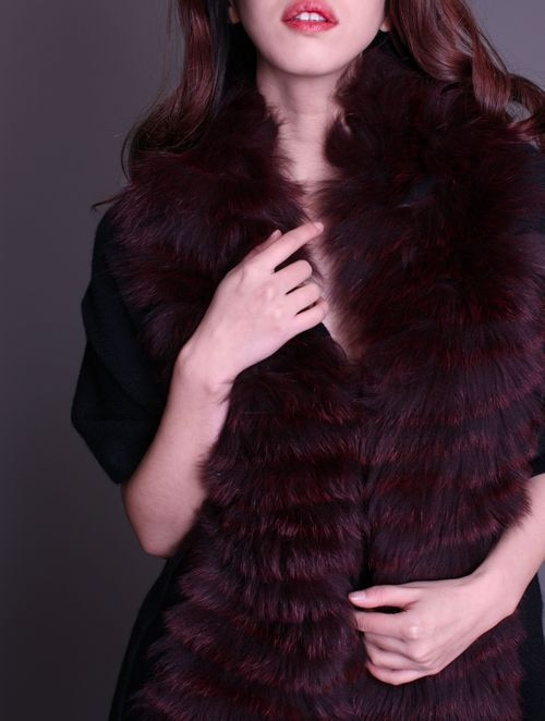 فستان سهرة نسائي من الكشمير الخالص ، زي دافئ عصري ، شريط فرو الثعلب ، خريف وشتاء ، F161 ، 100%