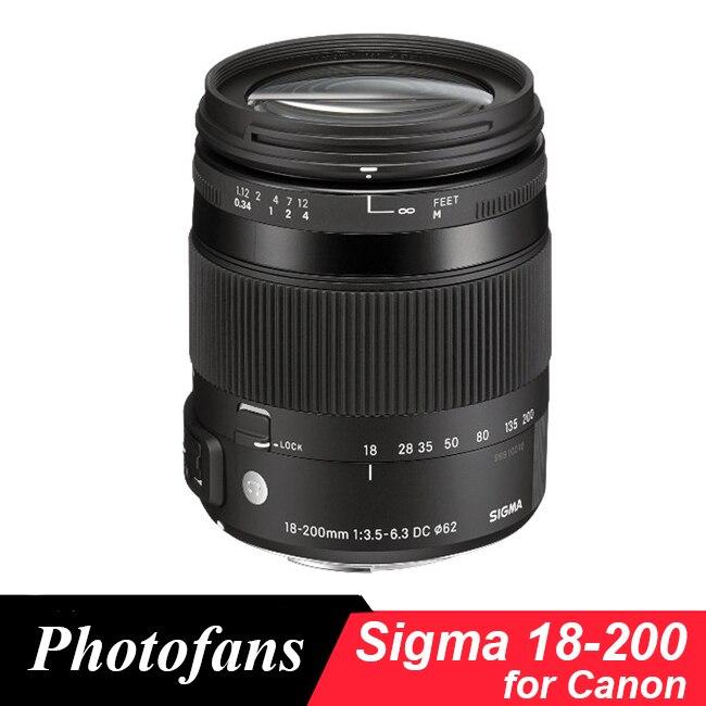 Sigma 18-200mm Lente para Canon 18-200mm f/3,5-6,3 DC Macro OS HSM Lente para 700D 750D 760D 60D 70D 80D 7D 1300D T5i T3i