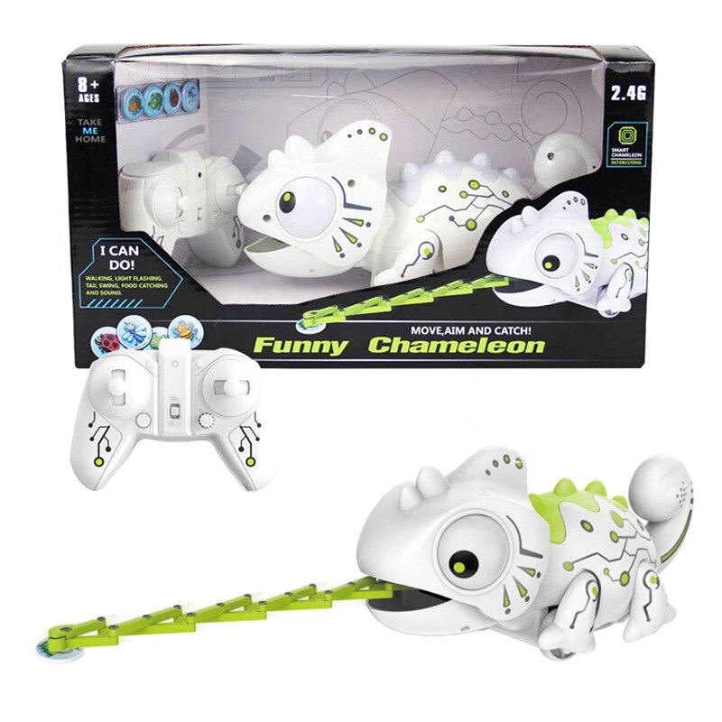 Nueva novedad, Control remoto r/c, decoloración de dragón, Animal que se come insectos a través de la lengua, juguete de niño divertido, regalo, dinosaurio, Robot, mascota, unicornio