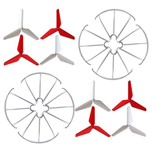 EBYOU 3-blade 3-leaf Upgrade Propellers & Prop Guards for Syma X5C-1 X5C X5S X5SC X5W X5SW JJRC H5C Skytech M68R Quadcopter