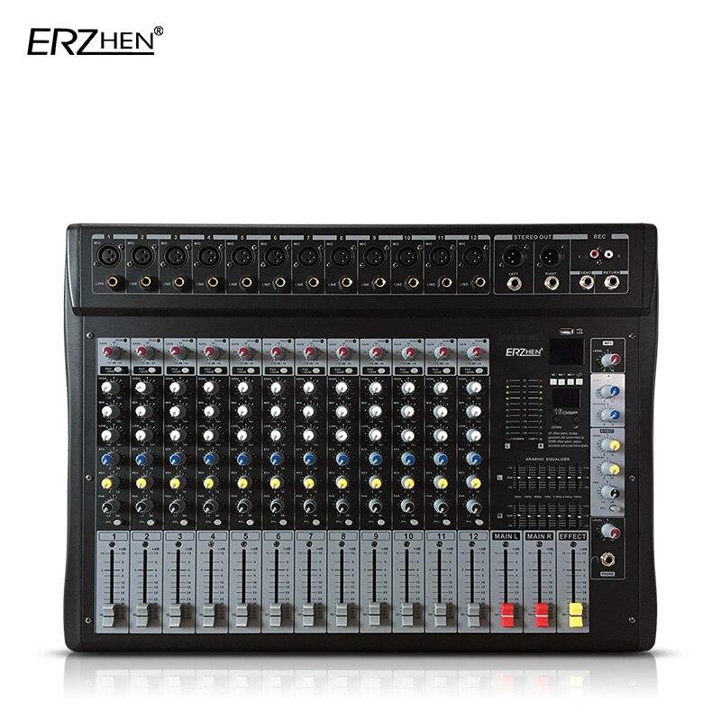 Consola mezcladora de Audio W9000T12 mezclador profesional amplificador de Audio procesador de sonido 12 canales