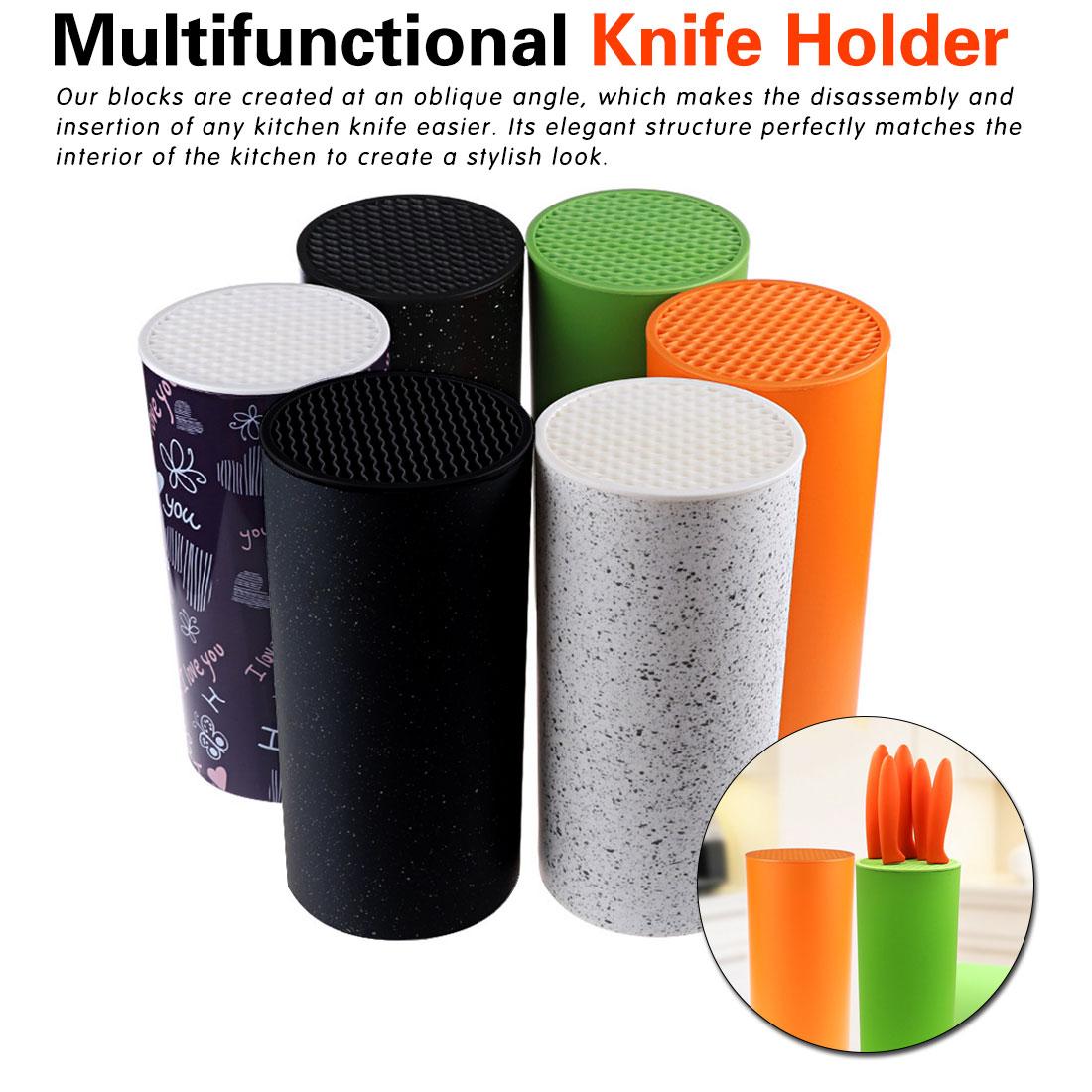 Portaherramientas de plástico multifuncional portaherramientas de plástico cuchillo bloque soporte tubo estante cromofo