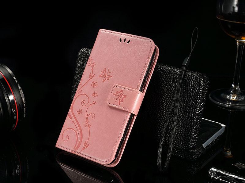 Dla microsoft nokia lumia 640 lumia 630 lumia 550 worek nadrukowane butterfly pu wizytownik skórzany telefon okładka case shell 14