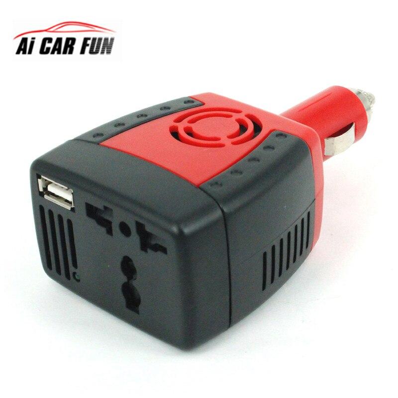 150 w 2100ma inversor de carro usb fonte de alimentação dc 12 v-ac 220 v conversor transformador portátil carregador de telefone móvel soquete universal