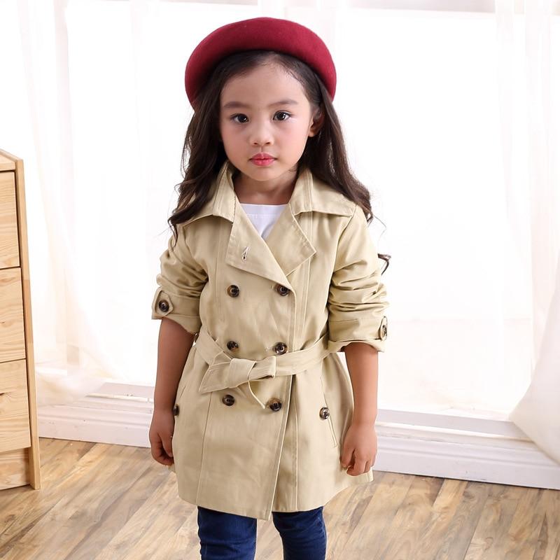 Veste de printemps pour filles   trench-coat dautomne, coupe-vent, veste à Double boutonnage, pour enfants filles, pour adolescentes