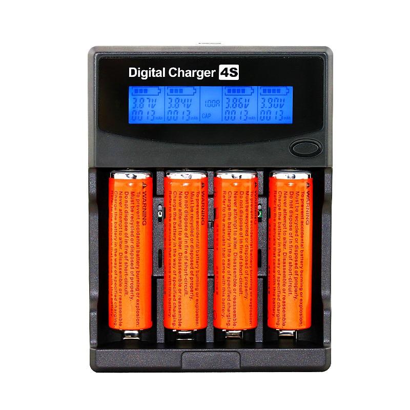 Capacité de la batterie de Test LCD 3.7 V/1.2 V AA/AAA 18650/26650/16340/14500/10440/18500 chargeur de batterie avec écran + adaptateur 12V2A 5V1A