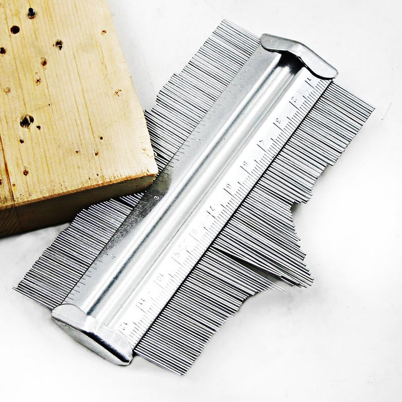 Medidor de perfil de contorno de Metal de 125mm medidor de calibre baldosas laminadas herramientas generales medidor de contorno duplicador -- M25