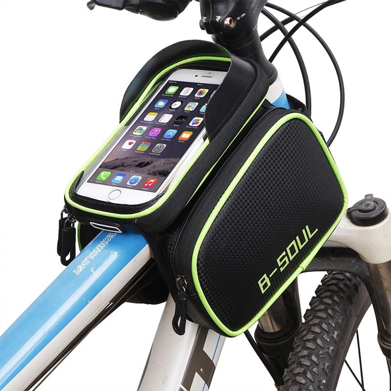 Sacos de bicicleta de Ciclismo MTB Tubo Dianteiro Quadro Da Bicicleta Mountain Bike Saco Saco De Armazenamento Tela À Prova D' Água para 5.5-6.2 polegada Do Telefone Móvel