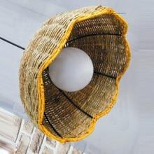 "14"" Country Rustic Rattan umbrella Shape Hallway Pendant Light Corridor Balcony Pendant Lighting Fixtures"