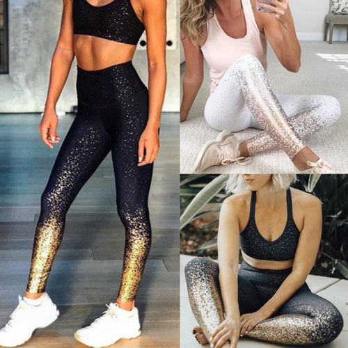 ¡Novedad de 2019! mallas sexis a la moda de verano para mujer, de cintura alta, para Yoga, Fitness, para trotar, gimnasio, pantalones deportivos elásticos, Pantalones